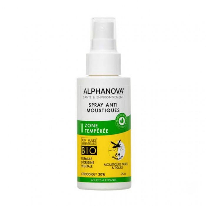 Repellente antizanzare zona temperata con citriodiol 20% - 75ml