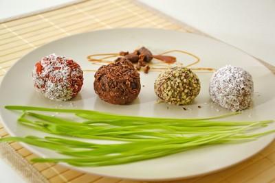Palline di cioccolato ai 4 gusti