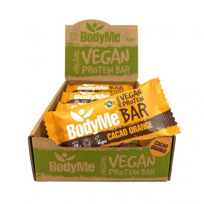 Barrette proteiche vegane - cacao e arancia - bio - 12 pack