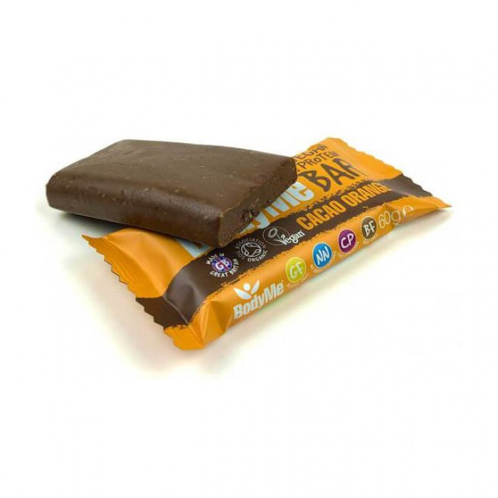 Bodyme Barretta proteica - cacao e arancia - bio - 60g