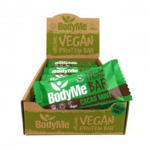 Barrette proteiche vegane - cacao e menta - bio - 12 pack
