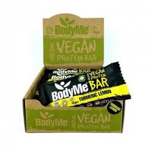Barrette proteiche vegane - curcuma e limone - bio - 12 pack