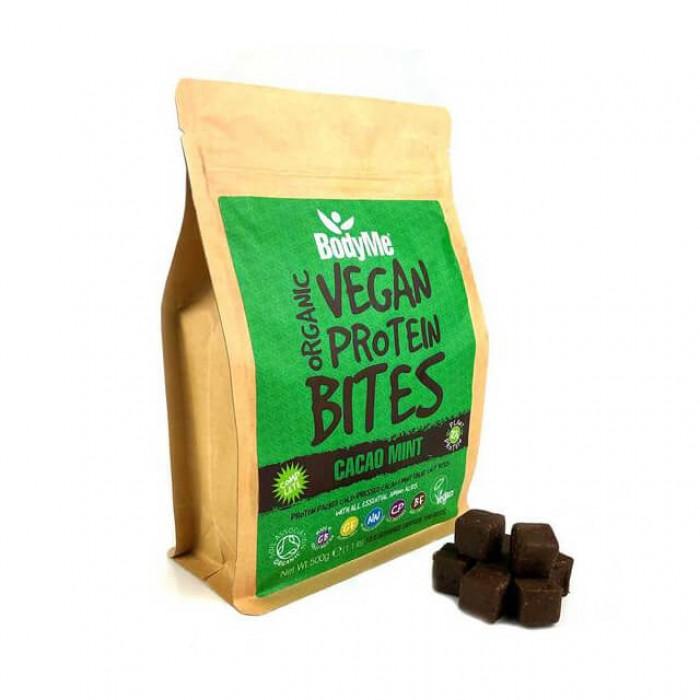 Morsi proteici vegani - cacao e menta - bio - 500g