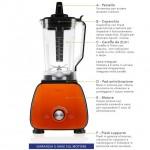 Frullatore professionale Vivo - Arancio/Nero
