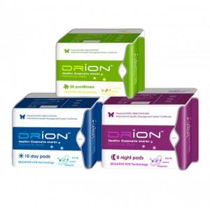 Assorbenti Drion - giorno + notte + salvaslip - cotone biologico e ioni negativi