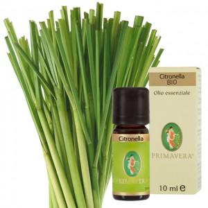 Olio essenziale di Citronella (Cymbopogon nardus) - Bio - 10ml