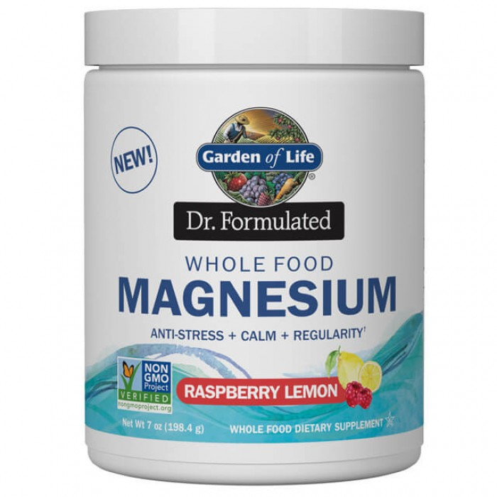 Magnesio whole food - lampone limone - Dr. Formulated - 198g