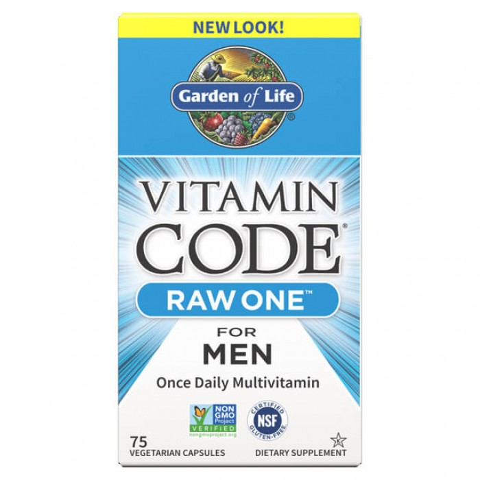 Raw one men - multivitaminico dal cibo per uomini - 75 caps