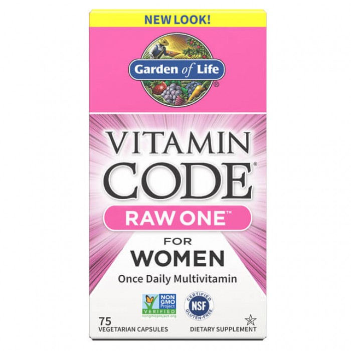 Raw one women - multivitaminico dal cibo per donne - 75 caps