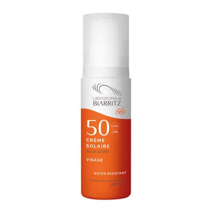 Crema solare viso SPF 50 - bio - Alga maris