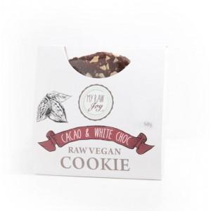 Cookie crudista cacao e cioccolato bianco - bio  - 50g