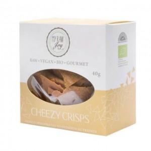 Cheezy Crisps crudisti gusto cheddar (vegan) - bio  - 40g
