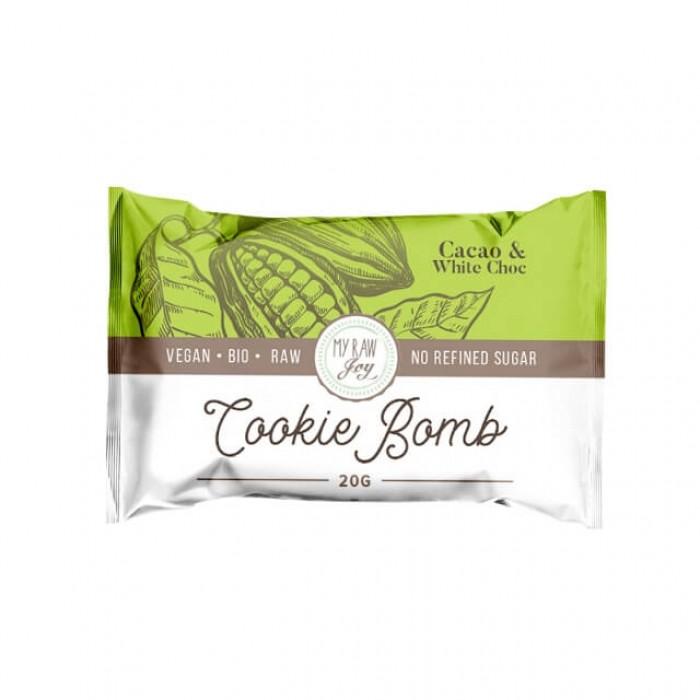 Cookie Bomb - cacao e cioccolato bianco - bio  - 20g
