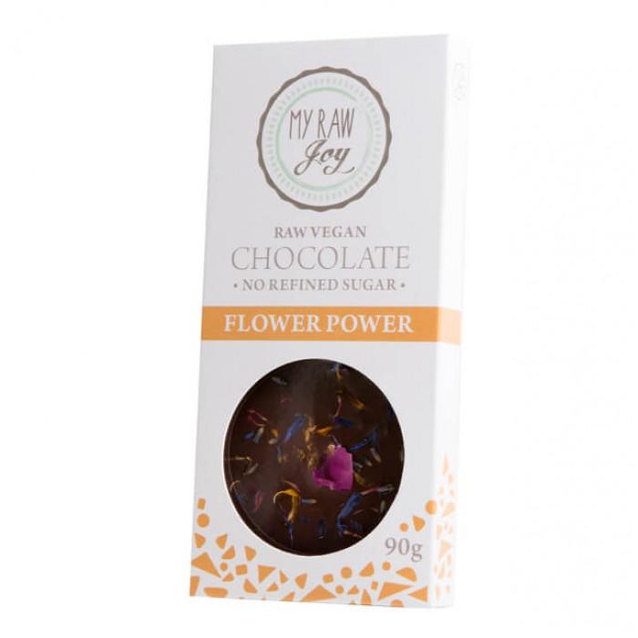 Cioccolato crudo ai fiori - bio  - 90g