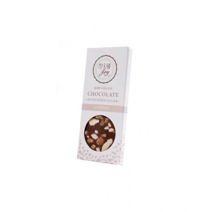 Cioccolato crudo con mandorle - bio  - 30g