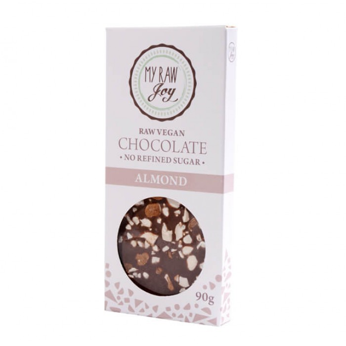 Cioccolato crudo con mandorle - bio  - 90g
