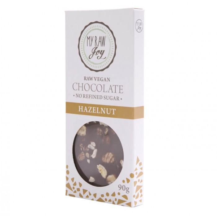 Cioccolato crudo con nocciole - bio  - 90g