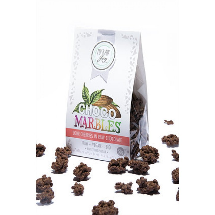 Praline di amarene ricoperte al cioccolato - raw - bio - 50g