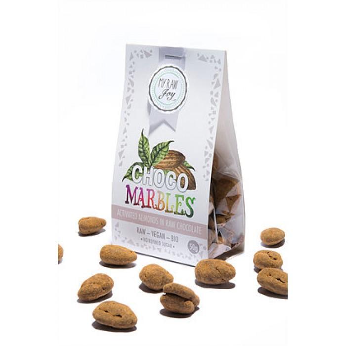 Praline di mandorle ricoperte al cioccolato - raw - bio - 50g