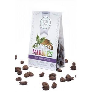 Praline di uvette ricoperte al cioccolato - raw - bio - 50g