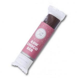 Barretta al cioccolato ripieno fragole - Raw - 30g