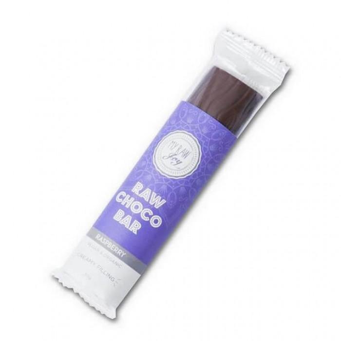 Barretta al cioccolato ripieno lampone - raw - bio - 30g