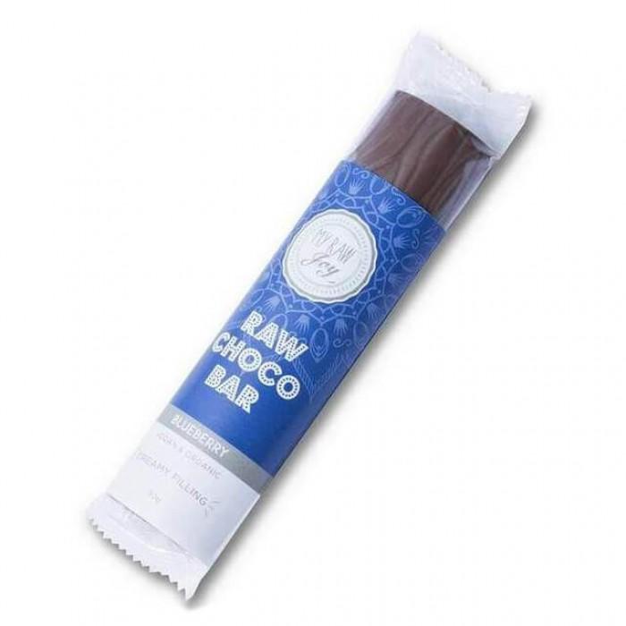 Barretta al cioccolato ripieno mirtilli - Raw - 30g