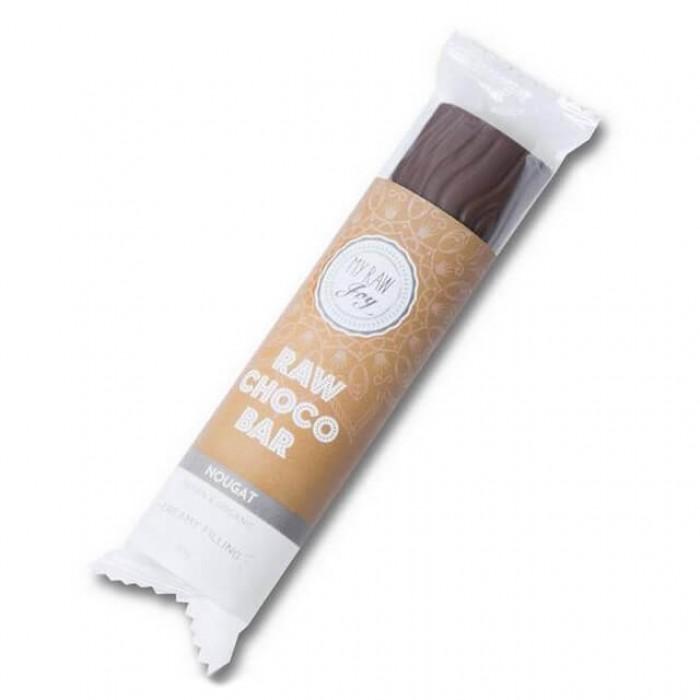 Barretta al cioccolato ripieno gusto torrone - Raw - 30g