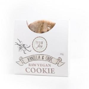 Cookie crudista vaniglia e scaglie di cioccolato - bio  - 50g