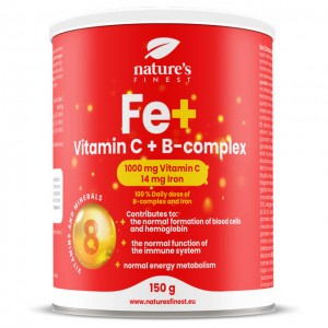 Ferro con vitamine C e B - per bevanda gusto limone - 150g