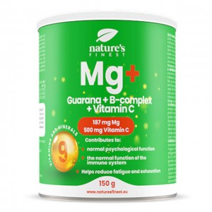 Magnesio + guarana e vitamine C e B - per bevanda gusto mango - 150g