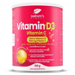 Vitamina D3 + Vitamina C - per bevanda gusto limone - 150g