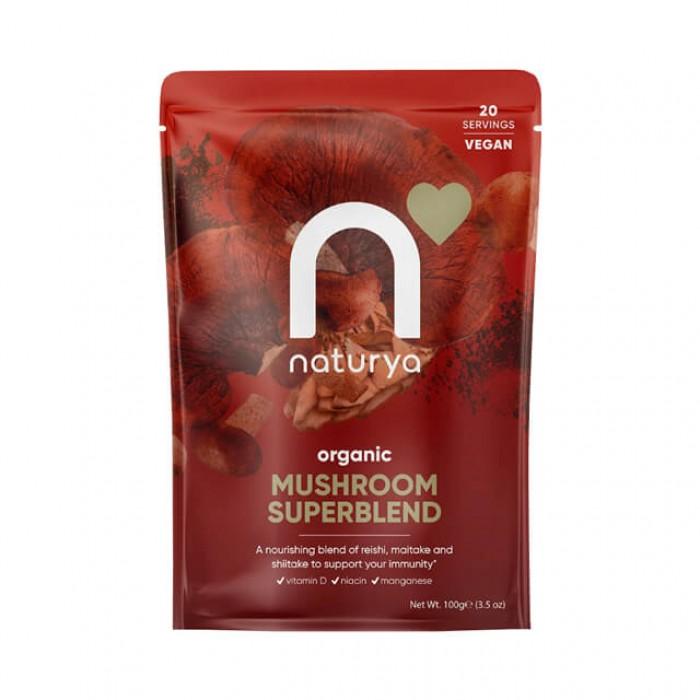 Mushroom superblend - miscela di funghi medicinali - Bio - 100g