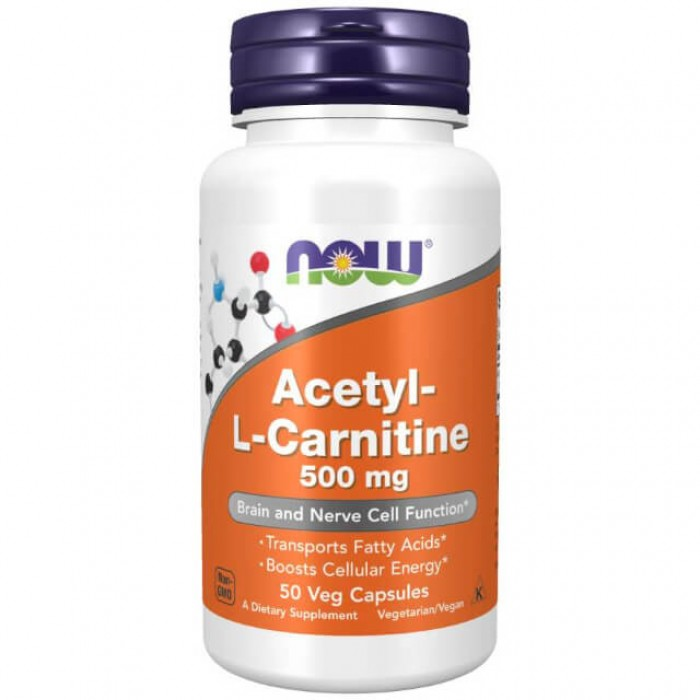 Acetyl-l-carnitine - 500mg - 50 vcaps