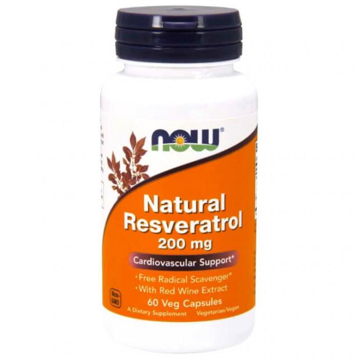 Resveratrolo naturale con estratto di vino rosso - 200mg - 60 vcaps