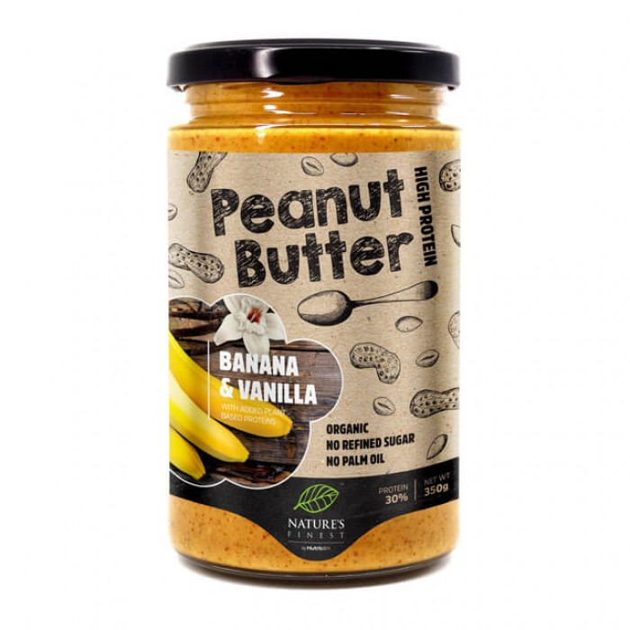 Burro di arachidi - banana e vaniglia - bio - 350g