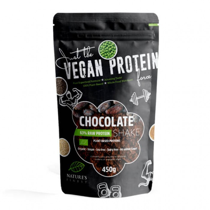 Chocolate raw protein shake 63% - bio - 450g