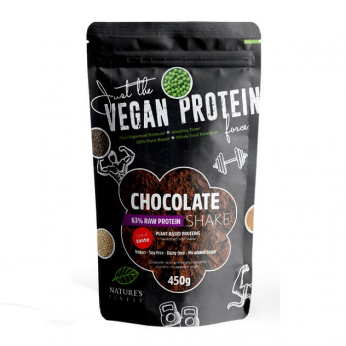 Chocolate Raw Protein Shake 63% dolcificate con stevia - 450g