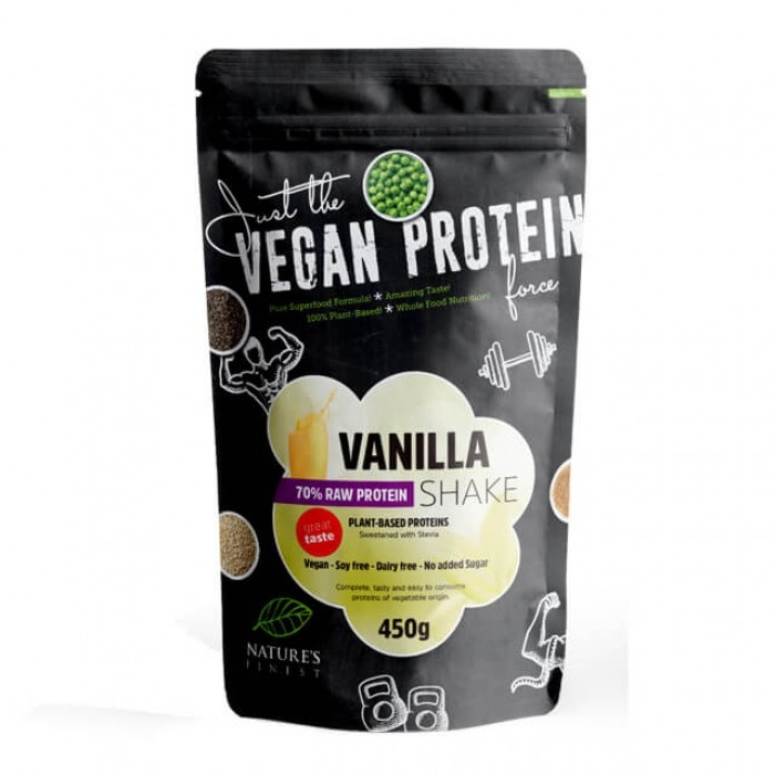 Vanilla Raw Protein Shake 70% dolcificate con stevia - 450g