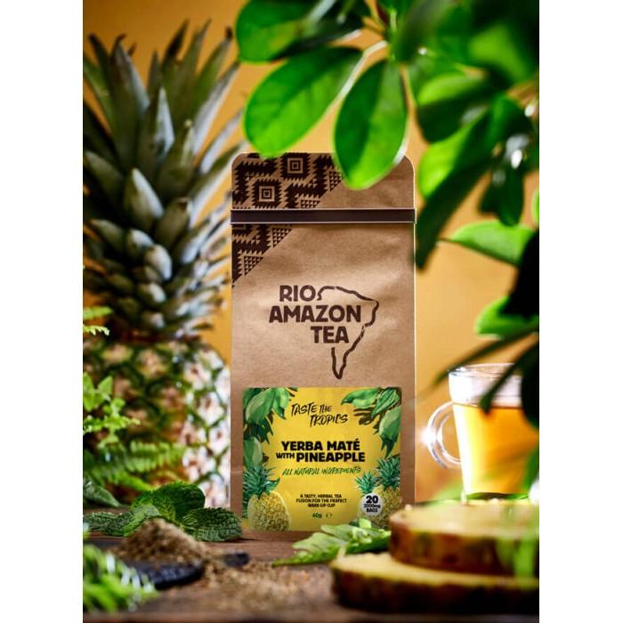 Yerba mate e ananas - tisana - 20 bustine