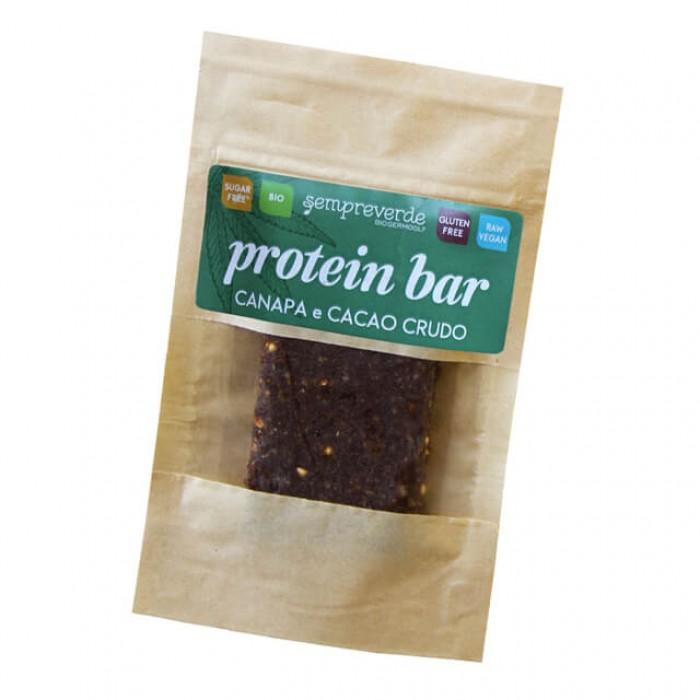 Barretta crudista proteica - canapa e cacao - bio