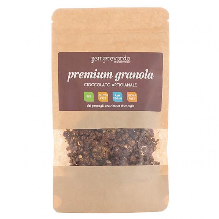 Granola crudista al cioccolato