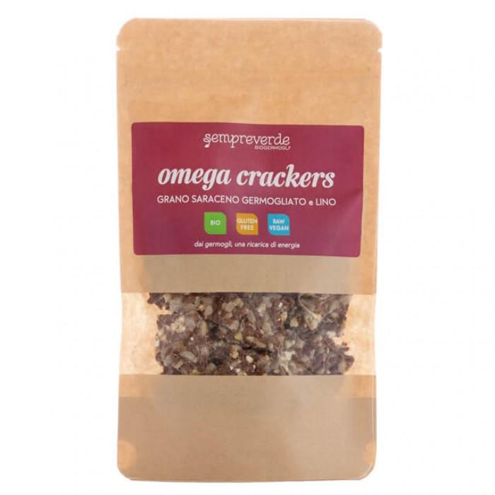 Omega crackers - grano saraceno germogliato e semi di lino - bio