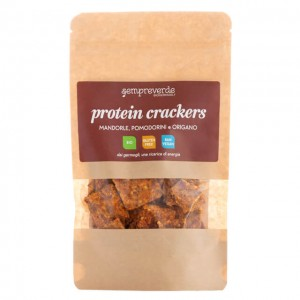 Protein crackers - mandorle, pomodorini e origano