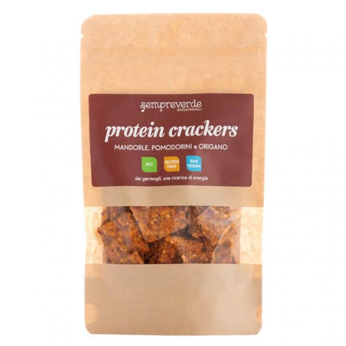 Protein crackers - mandorle, pomodorini e origano - bio