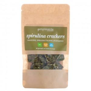 Spirulina crackers - mandorle, spirulina e rosmarino - bio