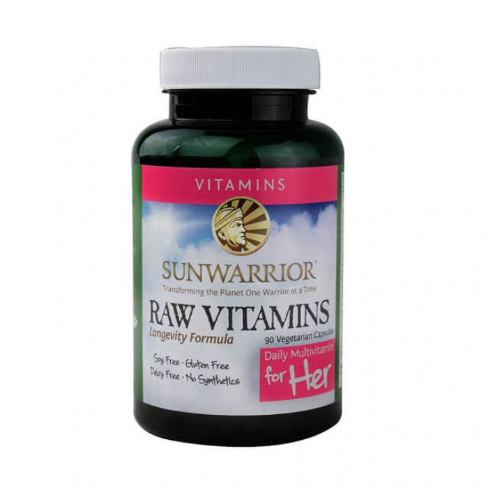 SUNWARRIOR Raw Vitamins (per donne) - 90 caps