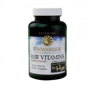 SUNWARRIOR Raw Vitamins (per uomini) - 90 caps