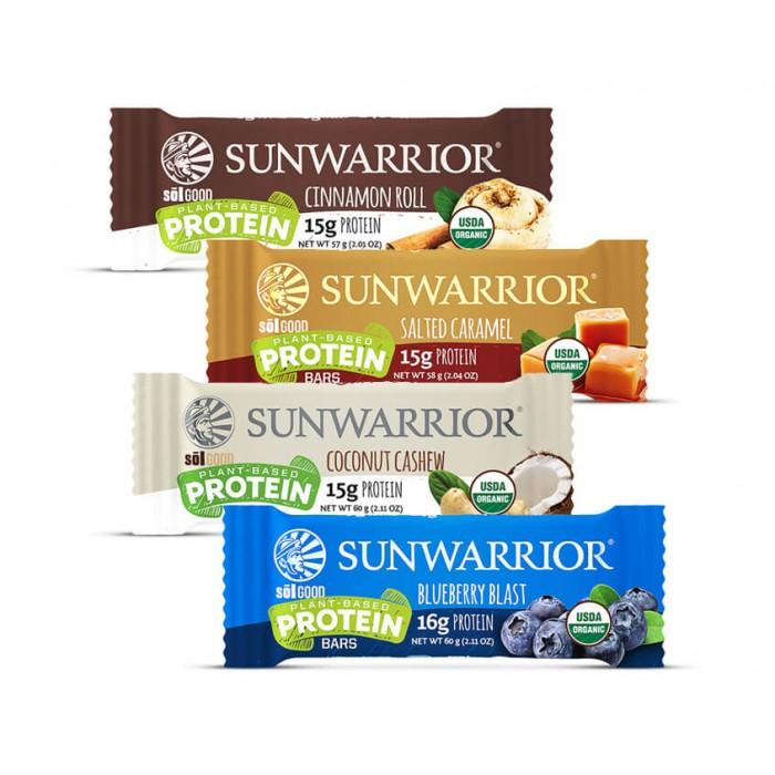 Sunwarrior Sol good 4x barrette proteiche - bio - 4 gusti