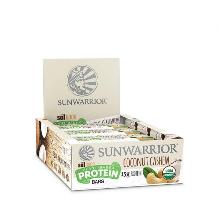 Sunwarrior Sol good barretta proteica - bio - Coconut cashew - 12 pack